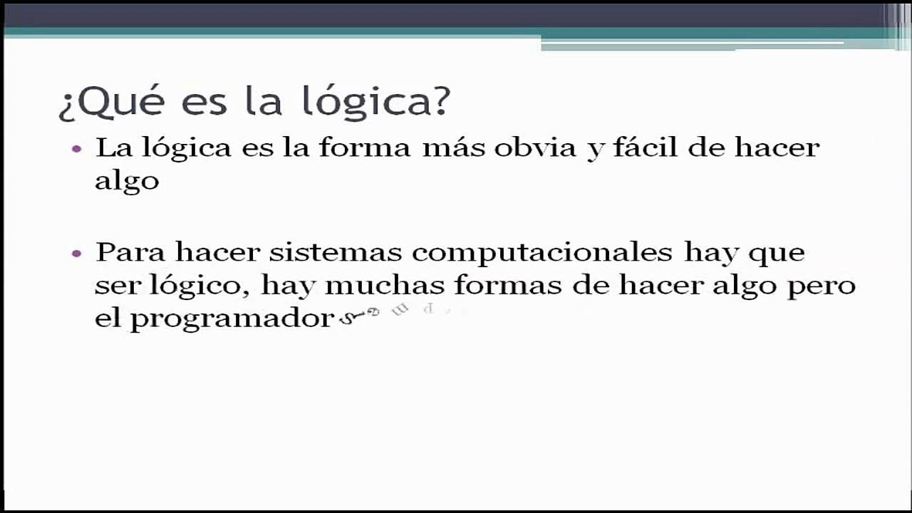 ¿Que es la lógica? - YouTube