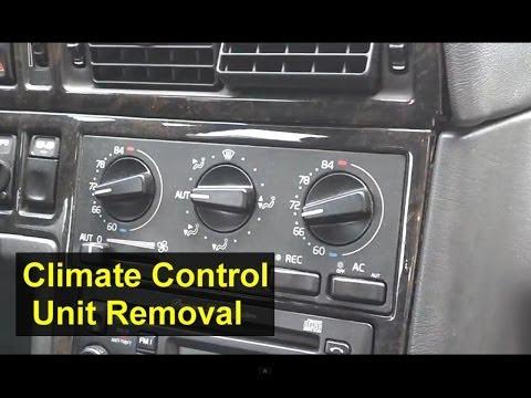 Volvo ECC Electronic Climate Control Unit Removal, 850, S70, V70, XC70, V70R, S40, Etc.