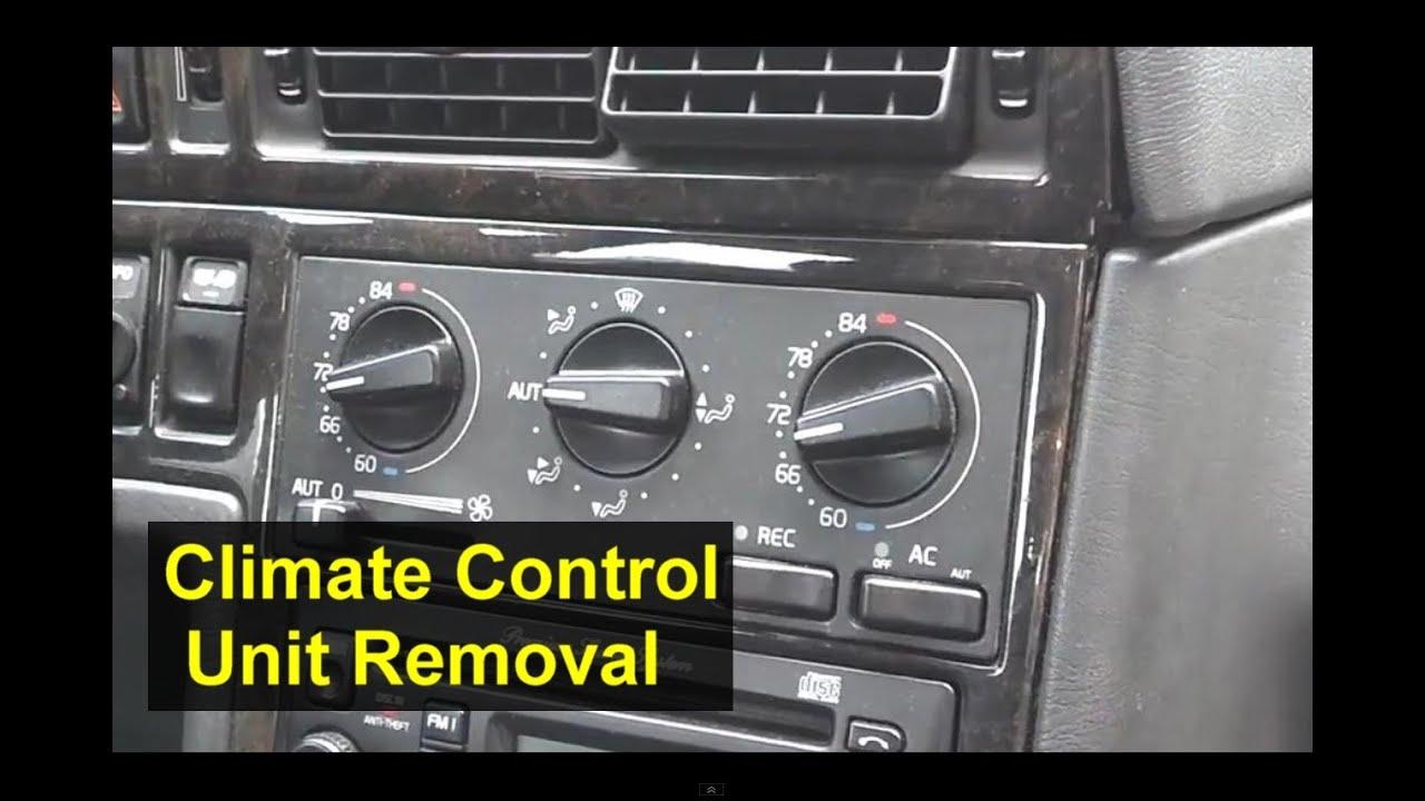 Volvo Ecc Electronic Climate Control Unit Removal 850