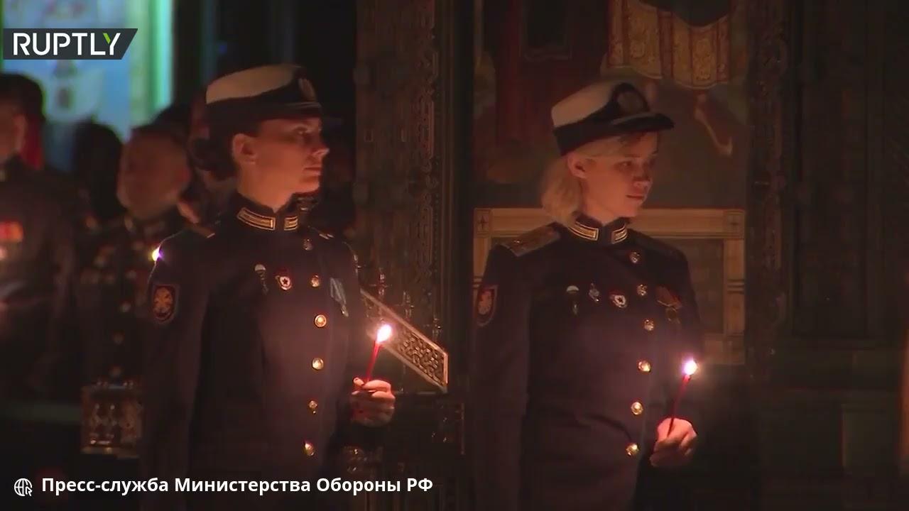 أول قداس عيد الفصح في كاتدرائية القوات المسلحة الروسية  - 13:57-2021 / 5 / 3