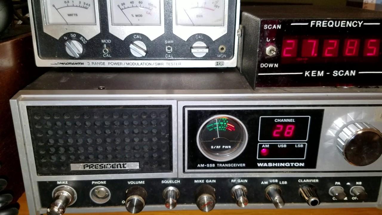 President Washington CB Base Radio Brief Review