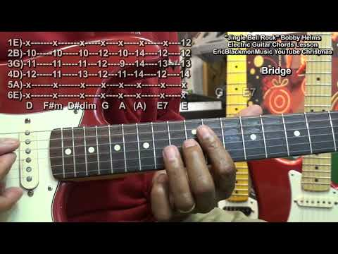 How To Play JINGLE BELL ROCK Electric Guitar Chords Lesson Eric Blackmon Guitar
