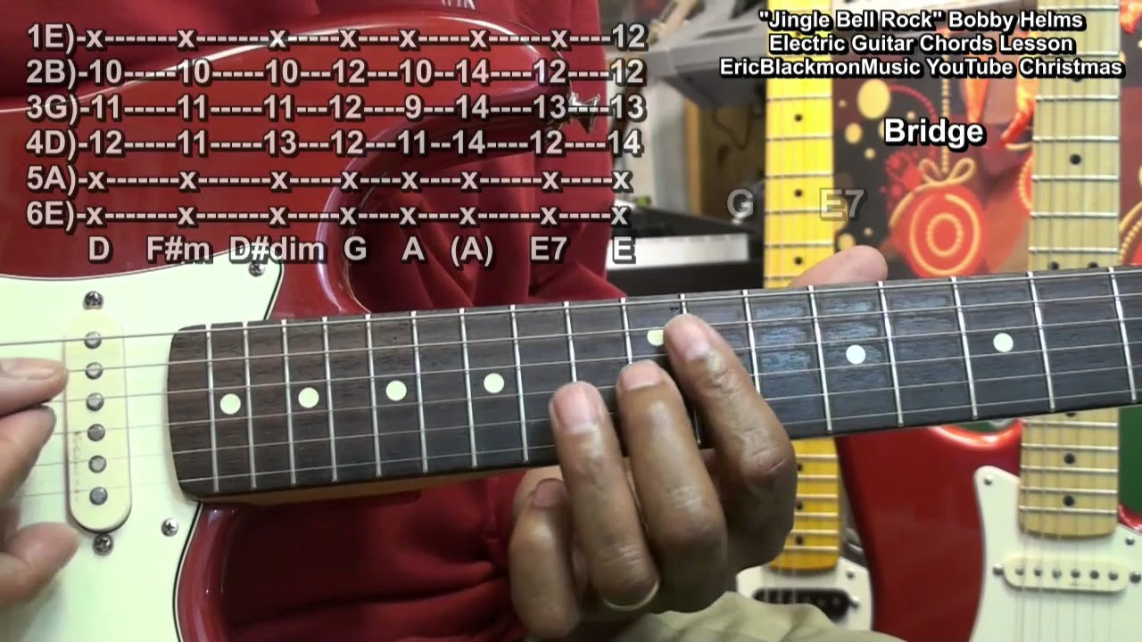 how to play jingle bell rock electric guitar chords lesson eric blackmon guitar youtube. Black Bedroom Furniture Sets. Home Design Ideas