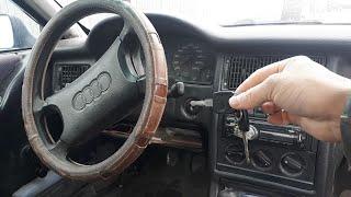 Как снять замок зажигания Audi Б4 1991 г.