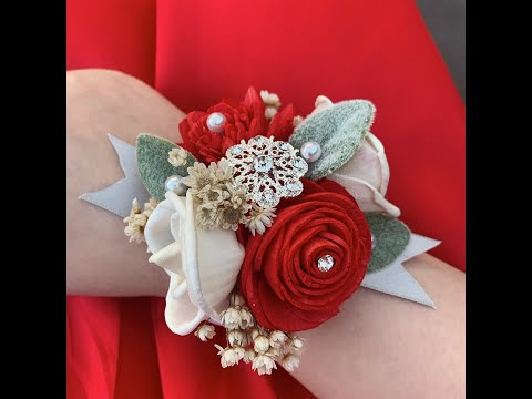 How to make a Wood Flower Corsage and Boutonnière
