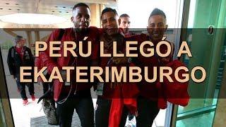 Llegada de la selección de Perú a Ekaterimburgo, previo al choque con Francia