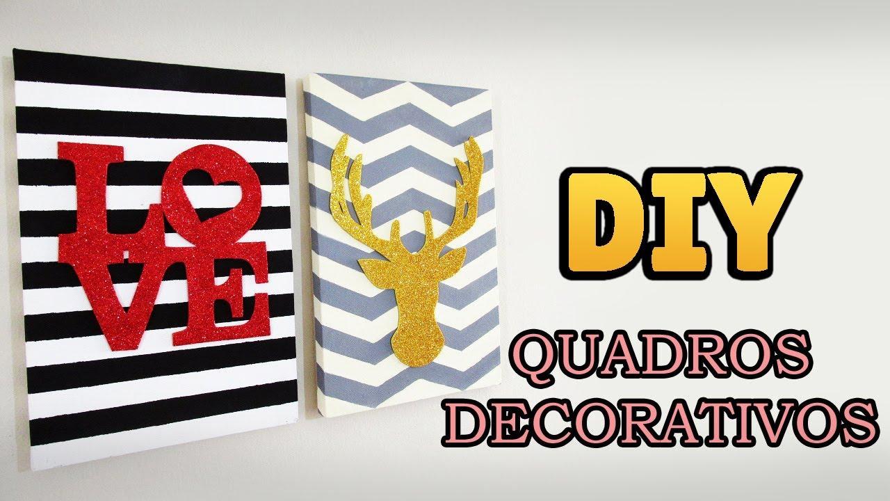 Diy Como Fazer Quadros Decorativos Decoração Estilo Pinterest Tumblr Diyhome You