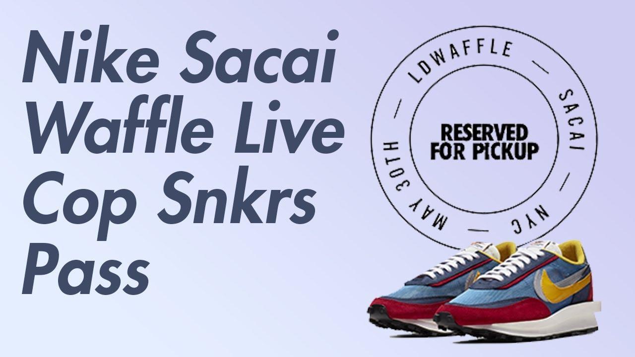 Nike Sacai LD Waffle Live Cop on SNKRS Pass