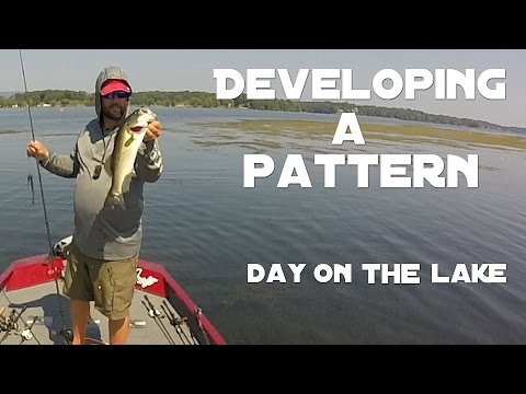 Bass Fishing - Day on The Lake - Developing a Pattern