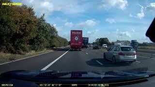 2018-09-19 - idiot in silver BMW WP13EWK cuts in dangerously