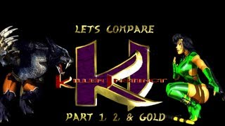 Let's Compare  ( Killer Instinct ) 1, 2, and Gold