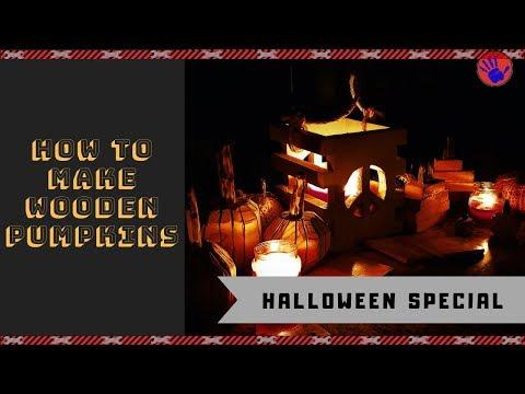 How to make wood pumpkins DIY --- Halloween project