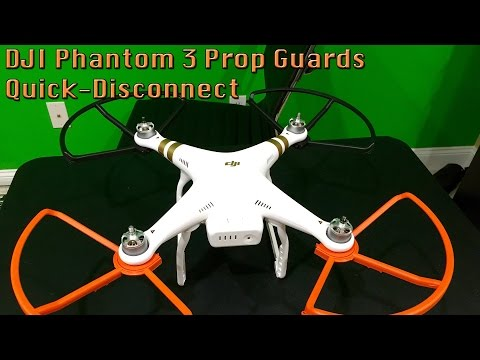 DJI Phantom 3 Quick-Disconnect Prop Guards Installation in 4K UltraHD
