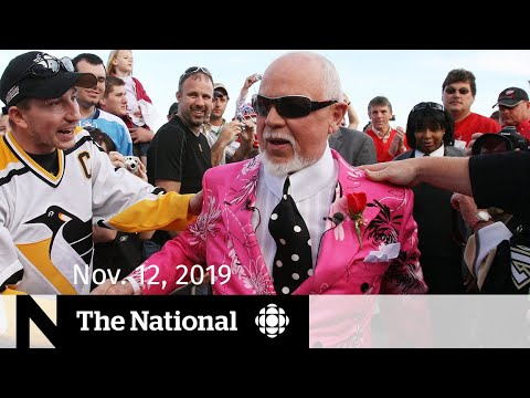 CBC News: The National: WATCH LIVE: The National for Tuesday, Nov. 12 — Don Cherry speaks out; Trudeau and Scheer meet