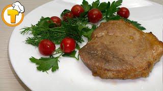Свинина в духовке. Очень сочные и вкусные эскалопы. Пошаговый рецепт.