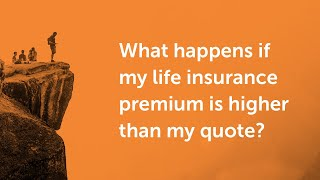 When you get a life insurance quote, this is just an estimate based on your minimal information. there are hundreds of factors that go into pricing in...