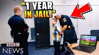 Kid gets arrested for playing Fortnite.. (BIG MISTAKE!)