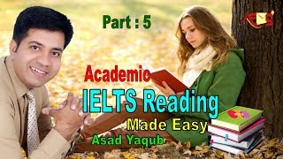 IELTS Reading Module - Matching - Academic - Real Test - Asad Yaqub - Part 5