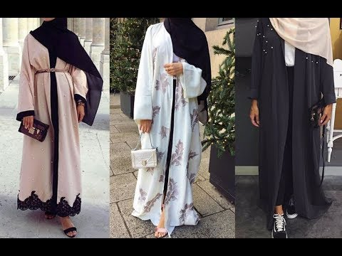0979588a6af76 Abaya designs new collection 2018 - Latest abaya designs - YouTube