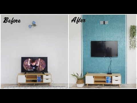 DIY Small Living Room Feature Wall