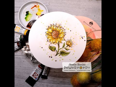 Watercolor Cardmaking - Power Poppy In Praise of Sunflowers