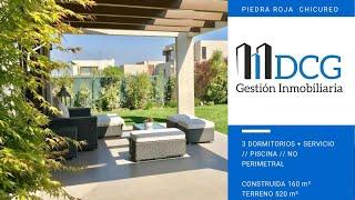 PIEDRA ROJA, Condominio Consolidado // 3 Dormitorios + Servicio // Piscina, Chicureo, Colina
