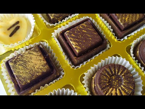 How To Color Chocolate With Gold (Luster Dust ) Painting Your Chocolate