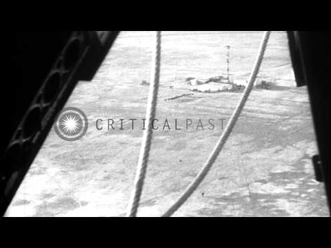 USS Macon is being attached to a mooring mast in Akron, Ohio. HD Stock Footage