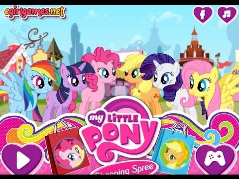 Пони игры. ШОПИНГ. ПОКУПАЕМ МНОГО ВСЕГО ДЛЯ My little pony. Мультик игра для детей.