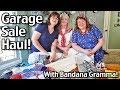 Garage Sale Haul with Bandana Gramma!