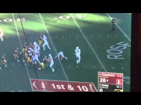 Stanford's Hogan To Rector Fake Fumble Pass For TD #RoseBowl