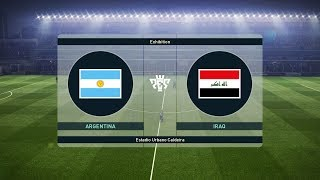 ARGENTINA vs IRAQ - Full Match & Amazing Goals - PES 2019 Gameplay PC