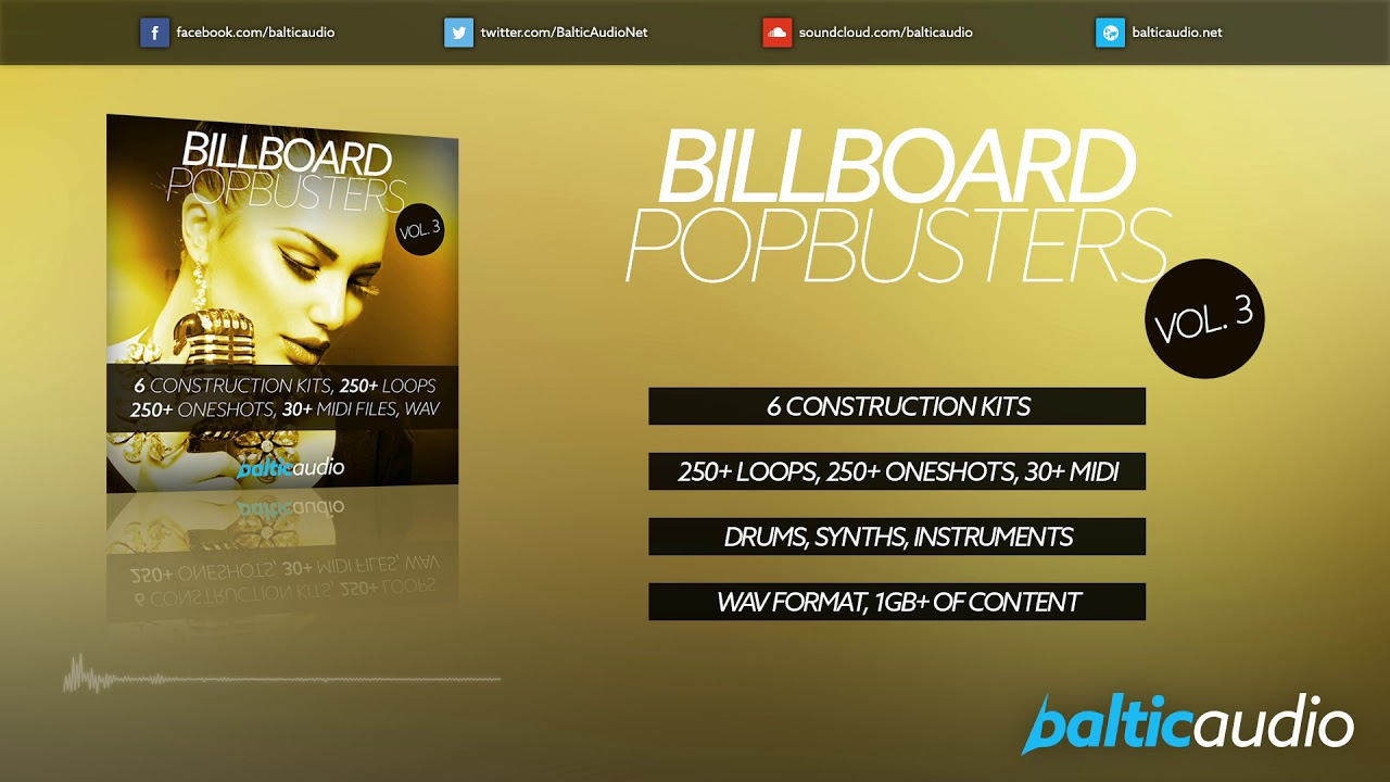 Billboard Pop Busters Vol 3 (6 Construction Kits, 250+ Loops, 250+ Oneshots, WAV)