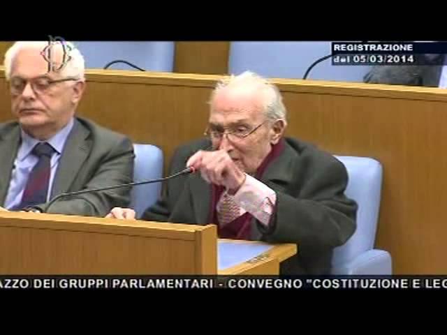 Costituzione e legge elettorale - Prof. Sartori