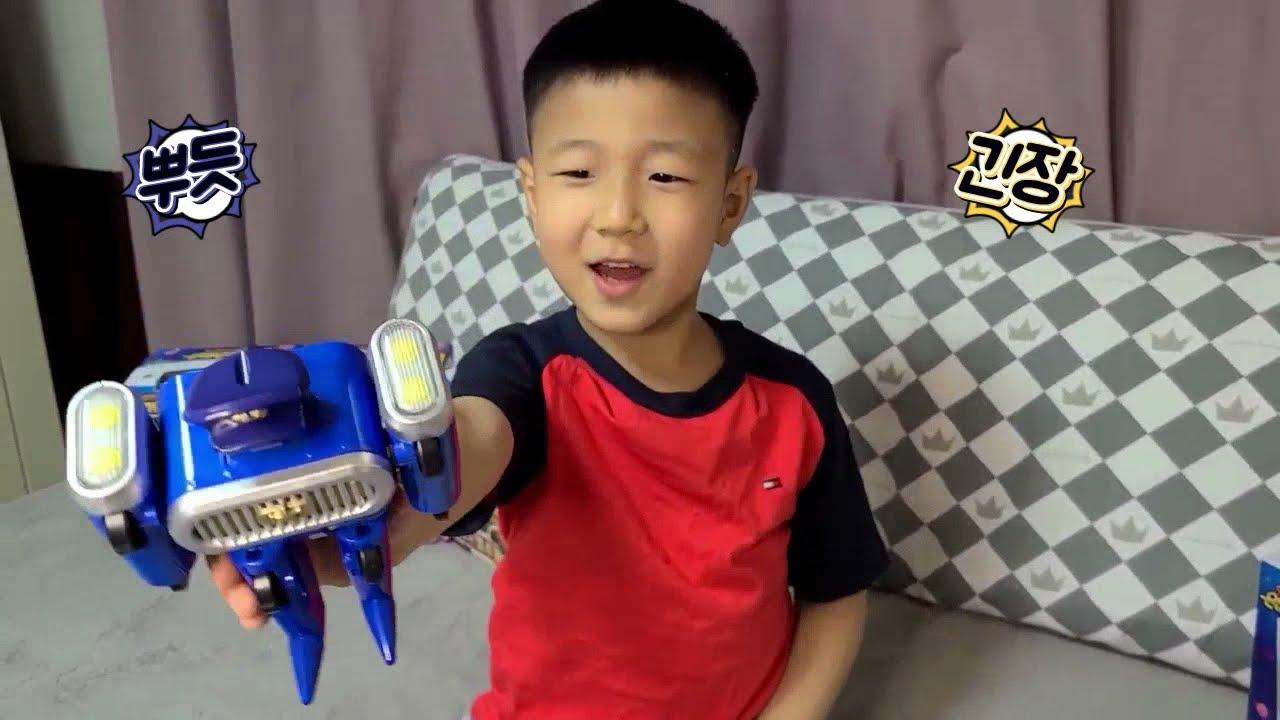 변신로봇 우당탕탕 은하안전단(블루, 레드, 옐로, MD-1, 루키)