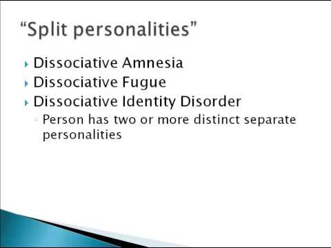an analysis of the dissociative disorders multi personality disorder did dissociative fugue disorder