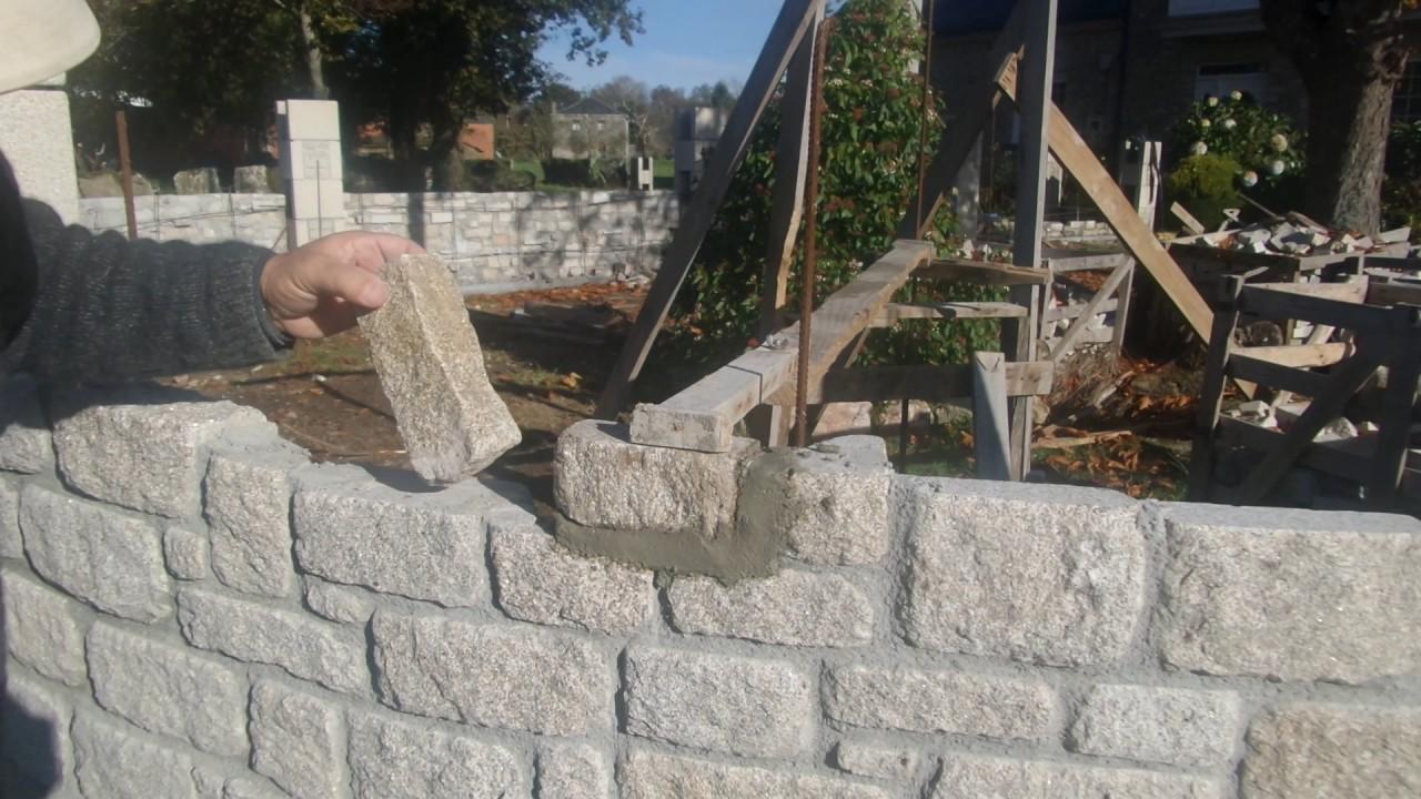 Cmo construir un muro circular en piedra YouTube