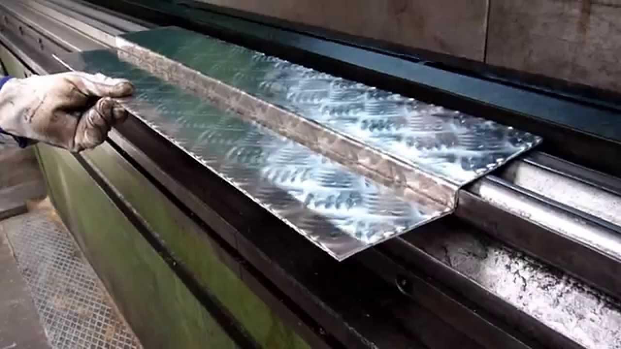 como plegar chapas de aluminio antideslizante to fold