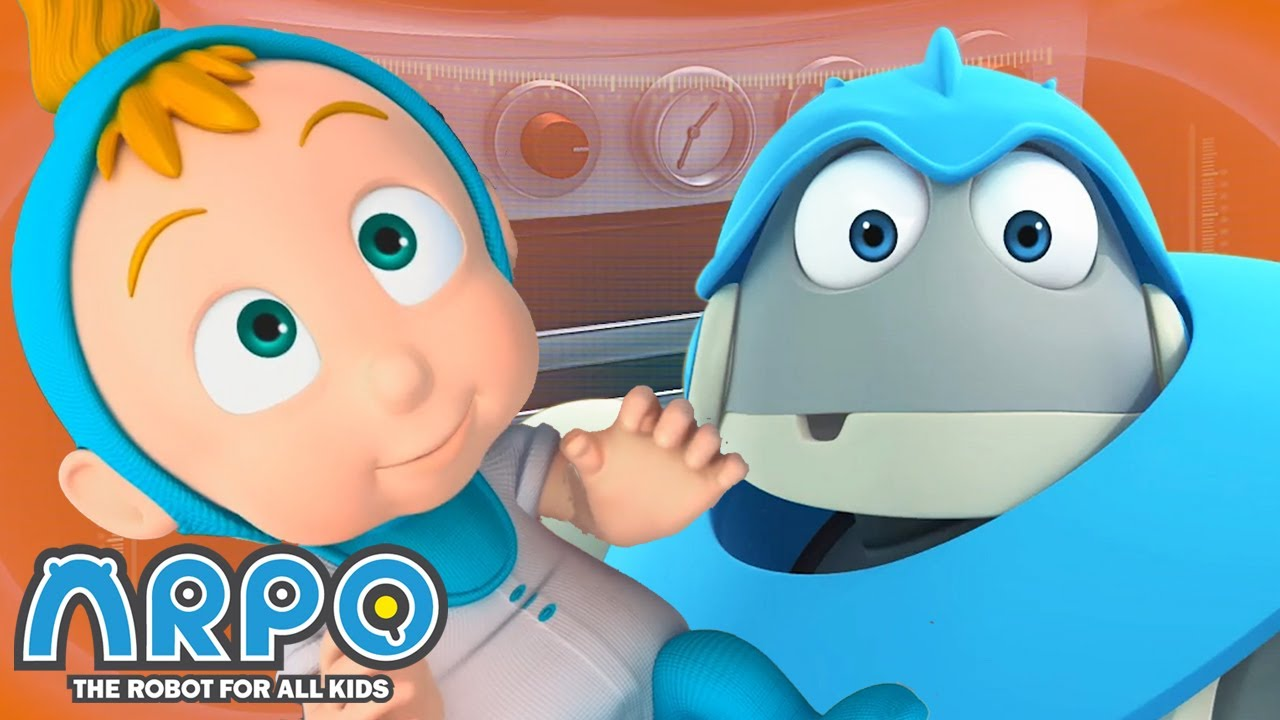 Arpo the Robot   Bacteria Alert!   COMPILATION   Best Moments   Funny Cartoons for Kids