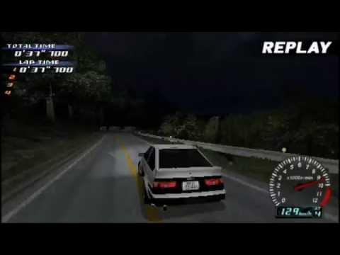 Initial D PSP Gameplay