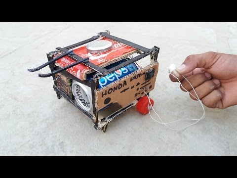 WOW! How to Make a Generator    At Home with cardboard & Pepsi Tin    Mini Generator    9v battery