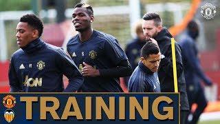 Manchester United train ahead of Valencia clash! | Training | UEFA Champions League