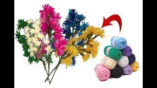 Woollen flower bunches | Best craft and easy DIY Idea