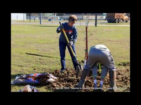 Mar. 26, 2016 TUCU tree planting at the Eufaula Middle School