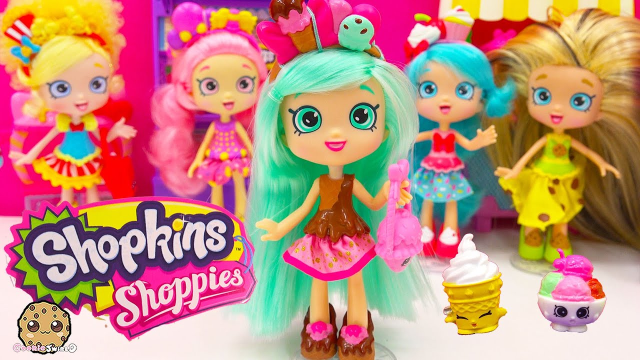 All The Names Of Cars >> Shopkins Shoppies Doll Peppa Mint with Season 4 Exclusives VIP Card - Cookieswirlc Toy Video ...