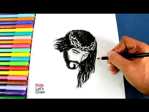 Cómo Dibujar El Rostro De Jesús Crucificado Fácil How To Draw