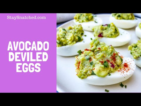 Avocado Deviled Eggs Quick and Easy