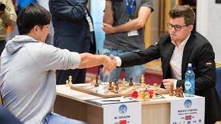 Магнус Карлсен VS Бу Сянчжи «Кубок мира по шахматам 2017» Карлсен едет домой! Счёт 0,5:1,5