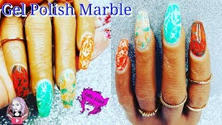 IRISH THEMES GEL POLISH MARBLE NAILS | IdleGirl