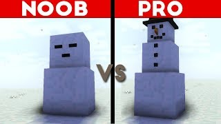 Minecraft Animation NOOB vs. PRO: SNOWMAN AND SNOWBALL!